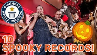 10 Spooky Guinness World Records Titles! Longest Snake, Loudest Scream and more!