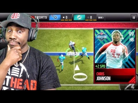 99 COMBINE CHRIS JOHNSON IS TOO FAST Madden Mobile 17 Gameplay Ep. 28