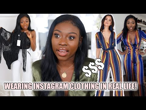 WEARING INSTAGRAM CLOTHING IN REAL LIFE! I SPENT $$$ ON IN THE STYLE AND THEY LOST MY ITEMS?