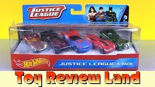 Hotwheels Justice League 5 Pack: Batman, Wonder Woman, Superman, The Flash, and Green Lantern Cars!