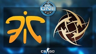 CS:GO - Fnatic vs. NiP [Dust2] - ESL One 2015 Katowice - Grand Final - Map 1