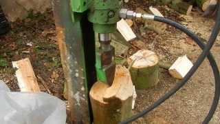 Holzspalter Eigenbau, ca. 10 Tonnen Druck