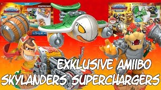 Skylanders SuperChargers AMIIBO - Hammer Slam Bowser & Turbo Charge Donkey Kong [HD] Deutsch