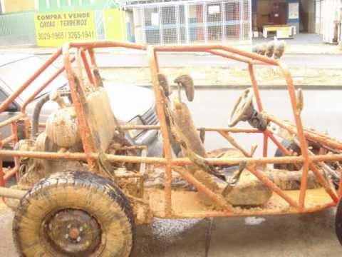 Gaiola feita com chassis de Brasilia