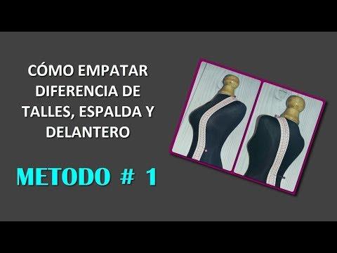 COMO EMPATAR DIFERENCIA DE TALLE FRENTE Y ESPALDA, MÉTODO #1