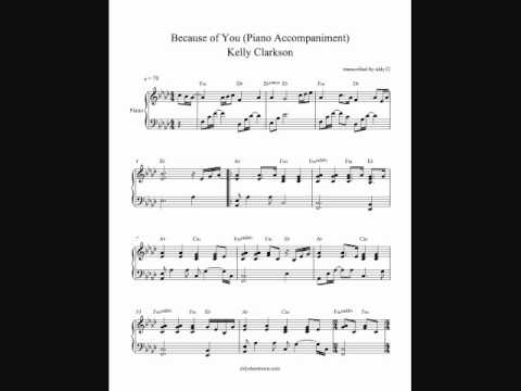 Because of You (Piano Accompaniment) - Kelly Clarkson (by aldy32)