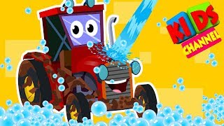 Kids channel | tractor | car wash songs for children | cartoon farm vehicles