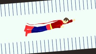 THE SUPERMAN CHALLENGE! (Happy Wheels)