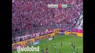 أهداف مباراة بايرن ميونخ وفيردربريمن [ الجولة الثامنة من الدوري الالماني 18-10-2014 ]