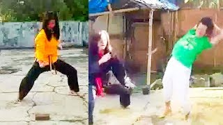 No Touch Girl Breaking Bricks - No Touch Martial Arts Reality - Part 12