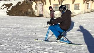 Homemade skibike/snowbike