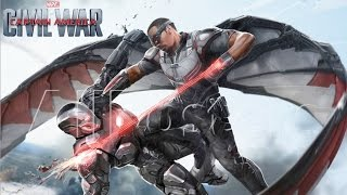 Falcon vs. War Machine - Capitán América: Civil War Nuevo Arte conceptual