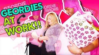 GEORDIE SHORE BBB   GEORDIES GO TO WORK!!   MTV