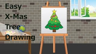 Easy X- Mas Tree Drawing for Kids | Kids Learning Video | Shemaroo Kids