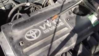 How to replace spark plugs Toyota Corolla VVT-i engine. Years 2000-2007.