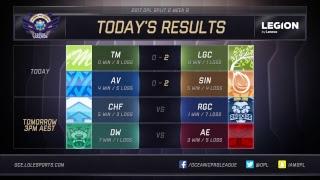 OPL Split 2 2017 - Week 8 Day 1: LGC vs. TM | AV vs. SIN