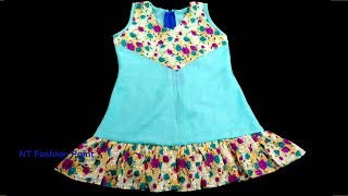 How to learn baby simple dress for beginners | Learn newborn baby dress easy guides