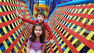 Indoor Playground for Kids with Slides and Color Ball
