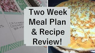 Two Week Meal Plan & Recipe Review | 05/25/17