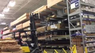 Lowes fork lift fun.