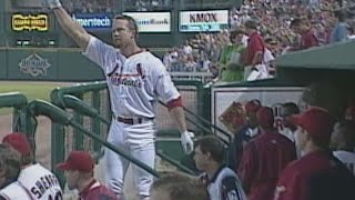 PHI@STL: McGwire hits first homer with Cardinals