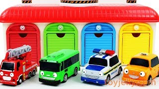 Learn Colors Tayo Garage Parking Playset Car Toys for Children Baby Finger Song Play Doh for Kids