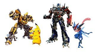 Pokemon Characters As Transformer Compilation - PART 1.