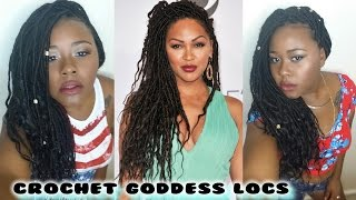 Goddess Faux Locs||Crochet & individual||Latch hook method||Meagan Good inspired