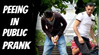 Cant hold my pee in public - Peeing in public prank