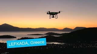 Aerial Drone footage of Lefkada, Greece