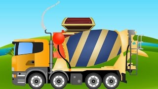 Cement Mixer Videos For Children | Cement Mixer | Vehicles For Kids
