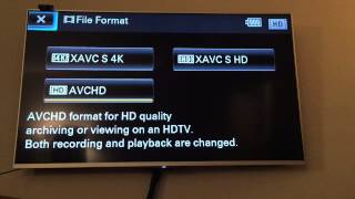 Sony FDR-AX33 to HDMI TV remote control