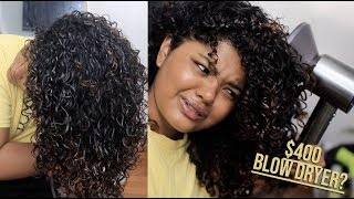 I BOUGHT A $400 BLOW DRYER TO DRY MY CURLY HAIR | leahallyannah