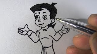 How to draw Chotta Bheem for kids step by step with narration.