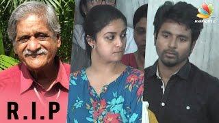 Sivakarthikeyan, Keerthi Suresh at Vietnam Veedu Sundaram Funeral | Death Video
