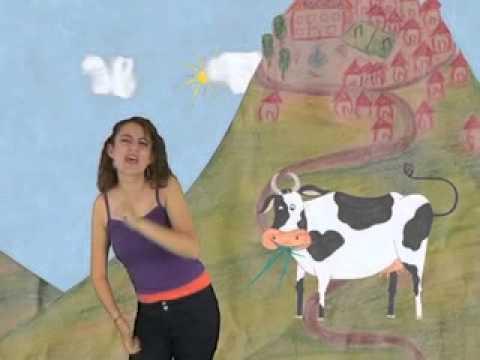La vaca estudiosa en lengua de señas ecuatoriana