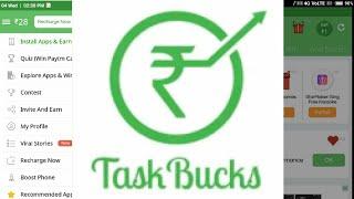 Taskbuck full tutorial {in hindi} How to use taskbuck earn paytm cash and recharge