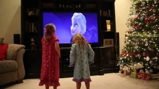 Disney Frozen Let it Go by Idina Menzel Girls / Kids Dancing and Singing