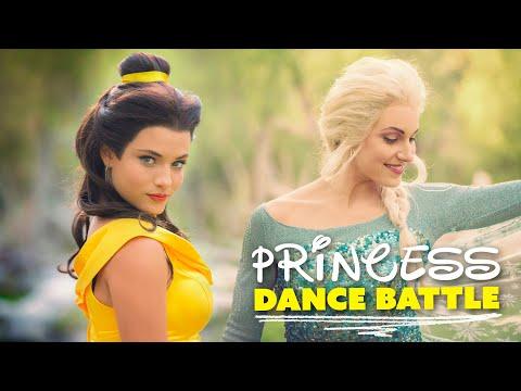 PRINCESS DANCE BATTLE! Belle vs Elsa! // (Full Frame + New Song)