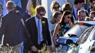 Prince Harry And Girlfriend Meghan Markle Attend Wedding In Jamaica
