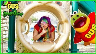 Hide and Seek at the Playground with Gus and Rainbow Rae