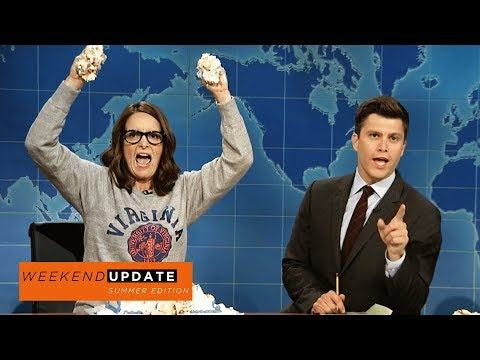 Weekend Update Tina Fey on Protesting After Charlottesville SNL