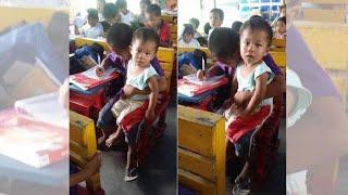 عمره 9 أعوام فقط وعليه أن يرعى أخاه الأصغر لسبب تتألم منه القلوب.....!