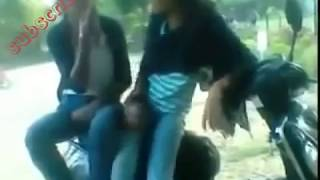 two hot and sexy girl with a bike funny video 2017