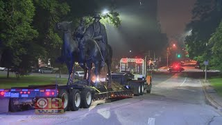 Confederate Statues In Baltimore Taken Down Overnight
