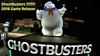 Ghostbusters Arcade Game 2016: Dave & Buster's Game Play Video By Toy Hunting Gamers Kids