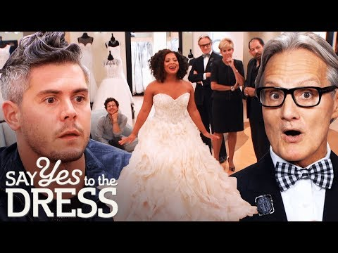 Entourage Critiques a Lazaro Dress in Front of the Designer Say Yes To The Dress Atlanta