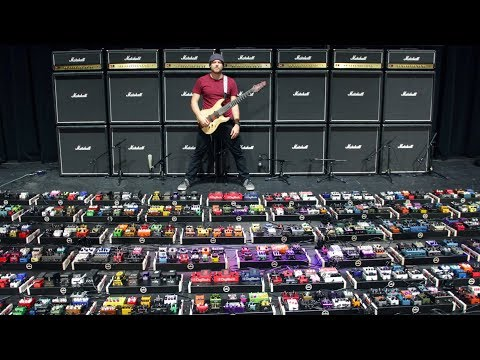 The World's Largest Guitar Pedalboard (world record) Video Clip
