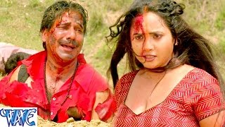 Fight Scene of Rani ChatterJee || Gulami || Bhojpuri Film Main Rani Himmat Wali