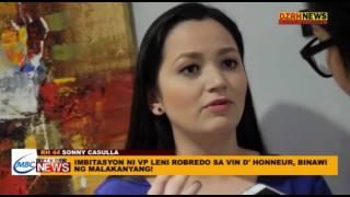 IMBITASYON KAY VP LENI ROBREDO SA VIN D
